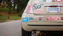 高調挺拜登 俄亥俄州選民將車子變成競選工具 (圖)