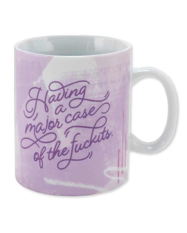 """<p>This <a href=""""https://www.popsugar.com/buy/Major-Case-Fckits-Coffee-Mug-379829?p_name=Major%20Case%20of%20the%20F%2Ackits%20Coffee%20Mug&retailer=paperrebel.com&pid=379829&price=11&evar1=moms%3Aus&evar9=44310114&evar98=https%3A%2F%2Fwww.popsugar.com%2Ffamily%2Fphoto-gallery%2F44310114%2Fimage%2F45450202%2FMajor-Case-Fckits-Coffee-Mug&list1=holiday%2Chumor%2Ccoffee%2Cgift%20guide%2Cmugs%2Cgifts%20under%20%2425%2Cgifts%20for%20women&prop13=mobile&pdata=1"""" rel=""""nofollow"""" data-shoppable-link=""""1"""" target=""""_blank"""" class=""""ga-track"""" data-ga-category=""""Related"""" data-ga-label=""""https://www.paperrebel.com/detail/gifts/major-case-of-the-fuckits-coffee-mug/pn/prod6011607"""" data-ga-action=""""In-Line Links"""">Major Case of the F*ckits Coffee Mug</a> ($11) was destined to be used at that recurring 8 a.m. Monday meeting.</p>"""