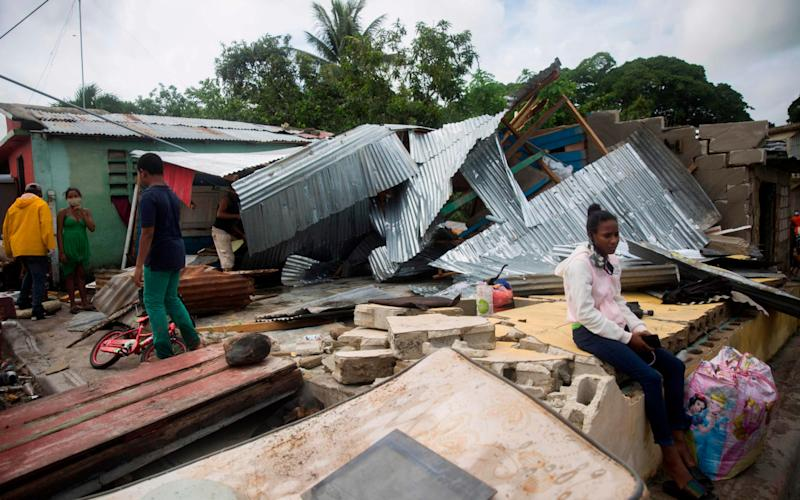 Destroyed houses in the aftermath of storm Isaias in the Dominican Republic - Erika Santelices/AFP