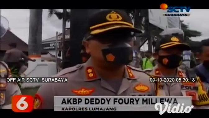 VIDEO: Demo Tolak Omnibus Law di Lumajang Berujung Ricuh