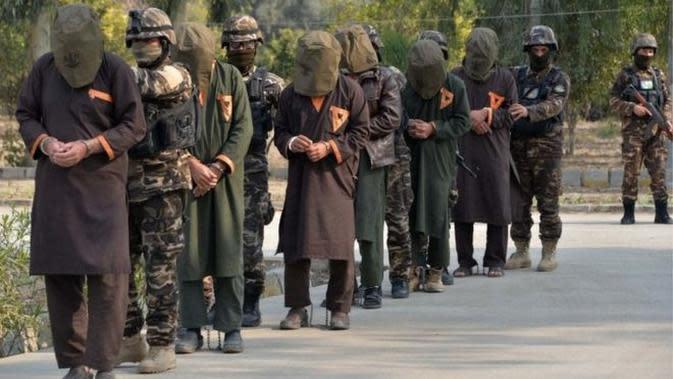 Kelompok militan Taliban di Afghanistan. (AFP)