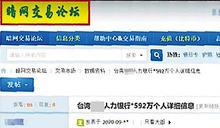 震驚!人力銀行遇「駭」 逾592萬民眾個資遭PO網賤賣