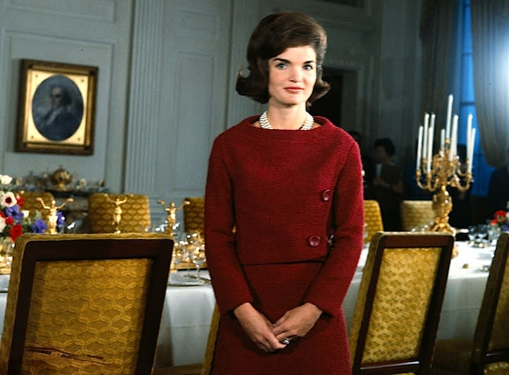 Feb. 14, 1962: Jacqueline Kennedy gives a TV tour of the White House