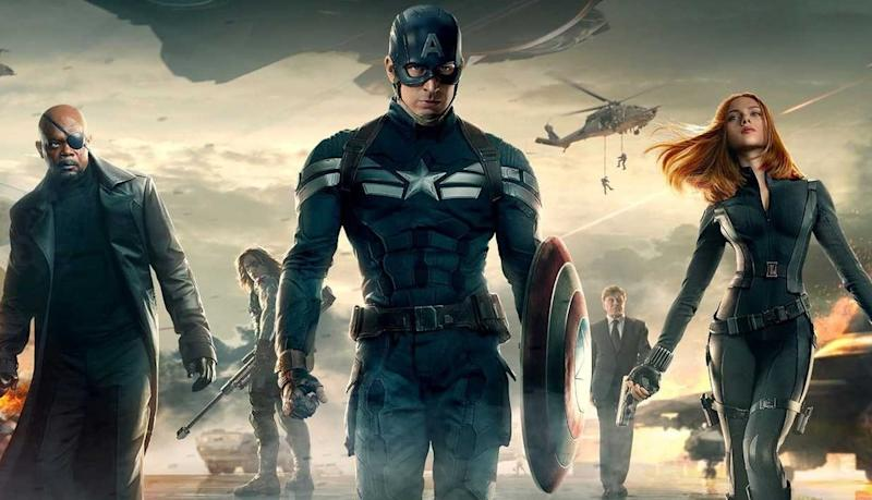 Promotional artwork for Captain America: The Winter Soldier