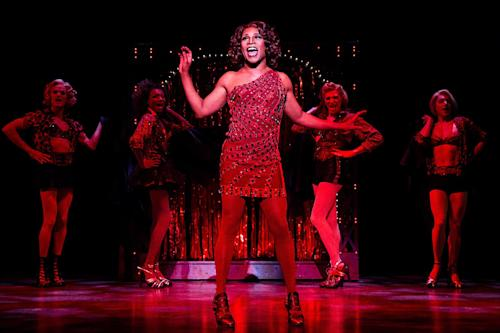 "This theater image released by The O+M Company shows Billy Porter during a performance of ""Kinky Boots."" The Cyndi Lauper-scored ""Kinky Boots"" has earned a leading 13 Tony Award nominations, Tuesday, April 30, 2013. ""Kinky Boots"" is based on the 2005 British movie about a real-life shoe factory that struggles until it finds new life in fetish footwear. The awards will be broadcast on CBS from Radio City Music Hall on June 9. (AP Photo/The O+M Company, Matthew Murphy)"