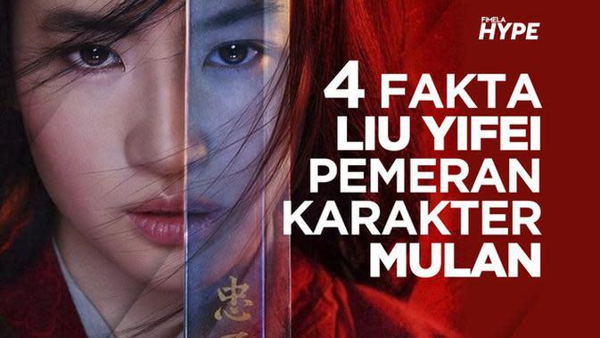 4 Fakta Liu Yifei Pemeran Karakter Mulan