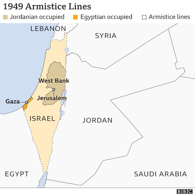 Peta garis gencatan senjata 1949