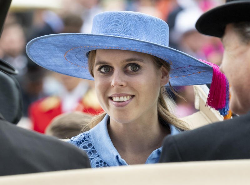 Princess Beatrice on day one of Royal Ascot at Ascot Racecourse on June 18, 2019 in Ascot, England.