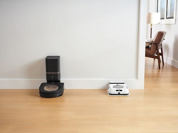 iRobot Roomba S9 and Braava Jet m6 docked