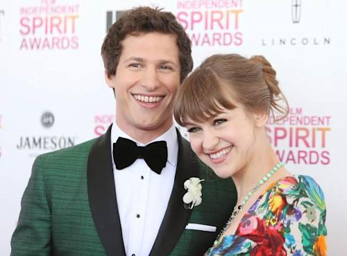 Andy Samberg and Joanna Newsom arrive at the 2013 Film Independent Spirit Awards held on February 23, 2013 in Santa Monica, Calif. -- Getty Premium