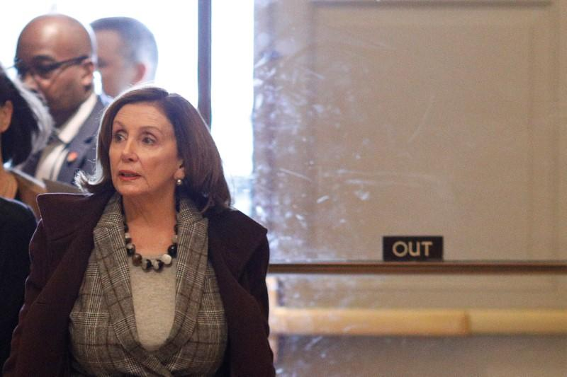U.S. Speaker of the House Pelosi walks to her office on Capitol Hill in Washington