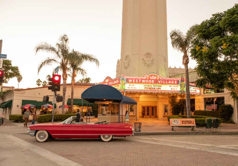 Fox Bruin Theatre film location from Once upon a time in Hollywood.