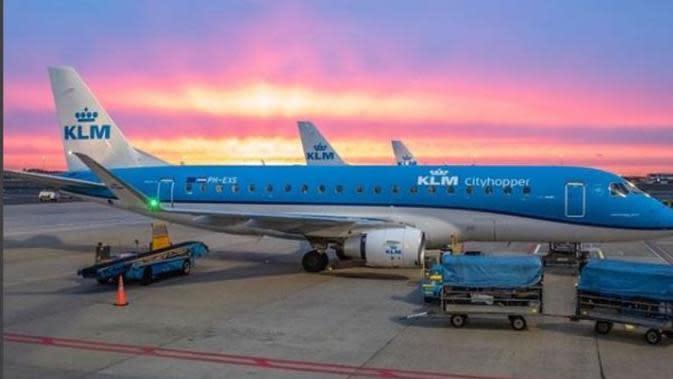 Maskapai Penerbangan Belanda, KLM. (dok.Instagram @klm/https://www.instagram.com/p/BwPMI-3Hdu5/Henry)
