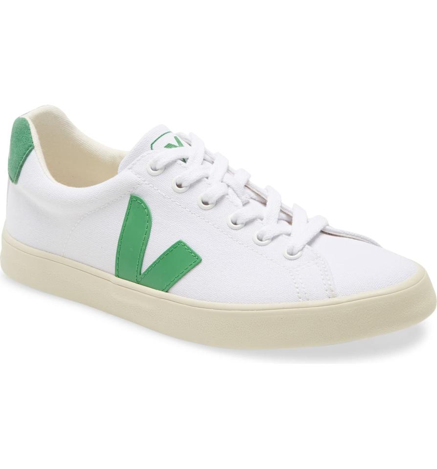 "<p><strong>VEJA</strong></p><p>nordstrom.com</p><p><a href=""https://go.redirectingat.com?id=74968X1596630&url=https%3A%2F%2Fwww.nordstrom.com%2Fs%2Fveja-esplar-se-canvas-sneaker-women%2F5399630&sref=https%3A%2F%2Fwww.harpersbazaar.com%2Ffashion%2Ftrends%2Fg33407732%2Fnordstroms-anniversary-sale-is-coming-here-are-15-fashion-must-haves-to-add-to-your-wishlist-from-the-preview%2F"" target=""_blank"">Shop Now</a></p><p><strong>Sale: $71.25</strong></p><p>After Sale: $90</p><p>Finding Meghan Markle's favorite sustainable sneaker brand on sale for under $100 is like stumbling upon a four-leaf clover in the desert. (We can't emphasize enough how rare this deal is.) Here, a white canvas pair that literally goes with everything in your closet.</p>"
