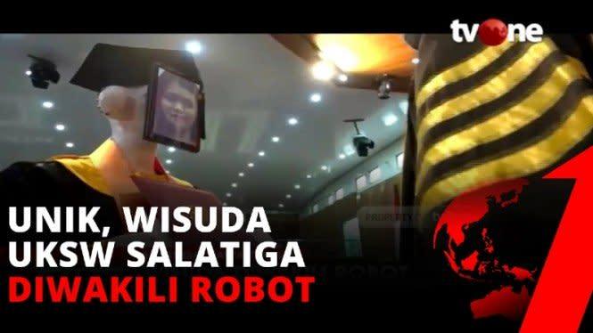Wisuda di Zaman COVID-19, Mahasiswa UKSW Gunakan Inovasi Robot