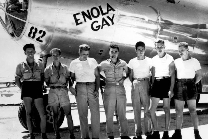 Ground crew of the Enola Gay