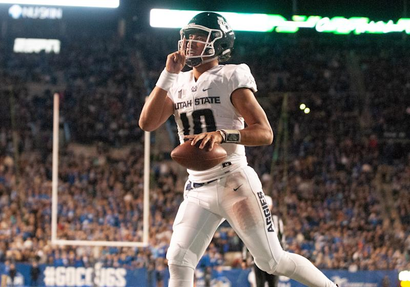 Utah State QB Jordan Love is one of college football's best secrets, but maybe not for long. (Getty Images)