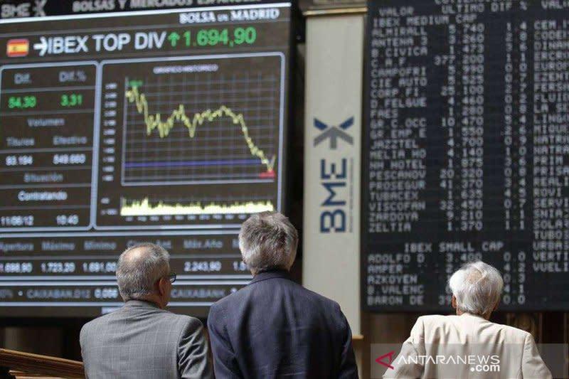 """Saham Spanyol """"rebound"""" dengan indeks IBEX 35 bangkit 1,20  persen"""