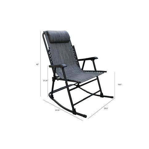 Outsunny Porch Rocking Chair Outdoor Patio Rocker Armchair with Cup Holder Cushion Steel