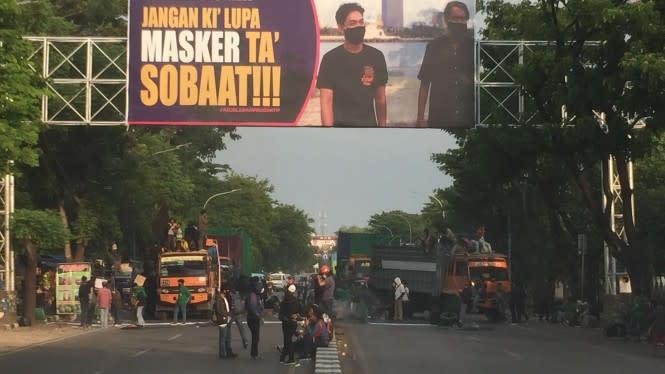 Tolak Omnibus Law Cipta Kerja, Mahasiswa di Makassar Sandera Truk