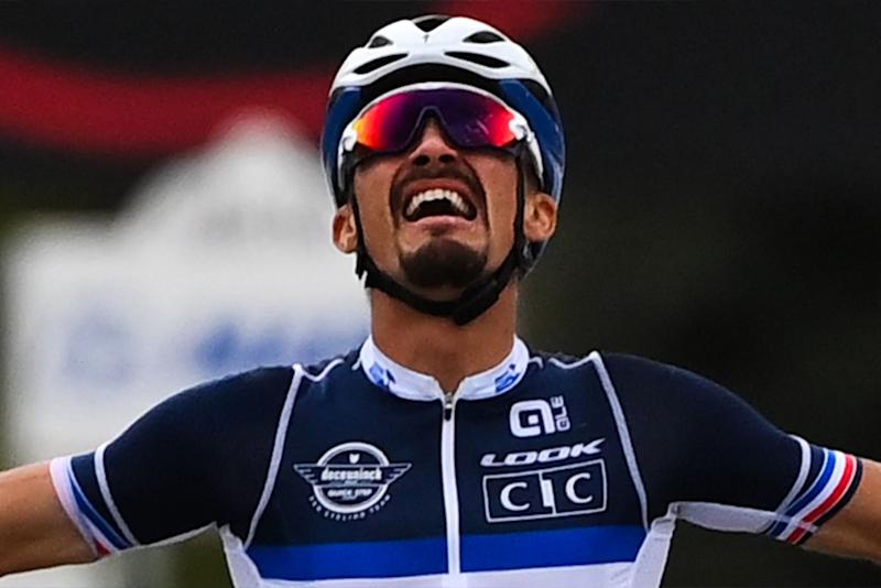Julian Alaphilippe (France) wins the 2020 UCI Road World Championships