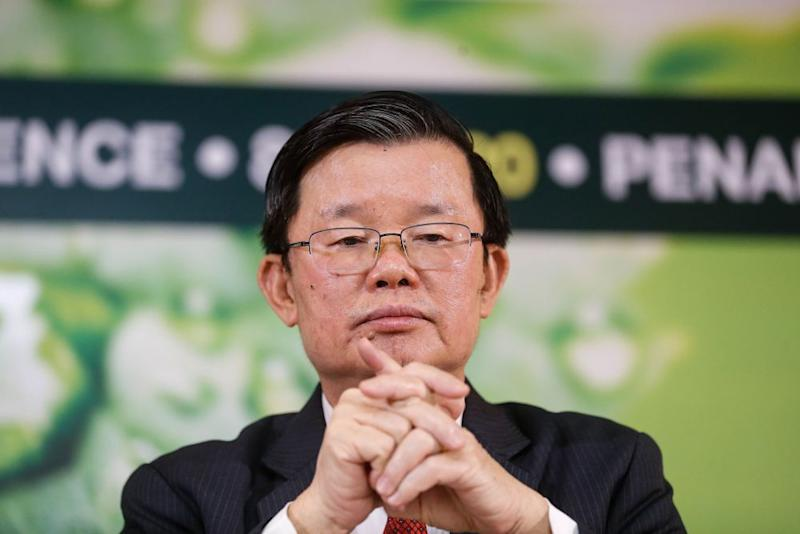 Penang Chief Minister Chow Kon Yeow speaks to the press at the SPICE Convention Centre in Bayan Lepas September 8, 2020. — Picture by Sayuti Zainudin