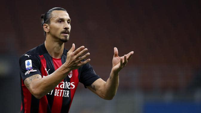 Liga Italia: Striker AC Milan Zlatan Ibrahimovic Positif COVID-19