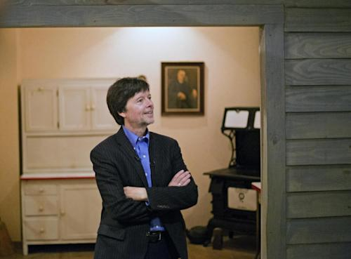 Documentary filmmaker Ken Burns walks through the museum at the Georgia home used by former President Franklin D. Roosevelt, Saturday, Nov. 2, 2013, in Warm Springs, Ga. Burns along with several members of the Roosevelt family toured the home known as the Little White House Saturday used by Roosevelt as Burns previewed parts of his 14-hour film on the Roosevelt's. (AP Photo/David Goldman)