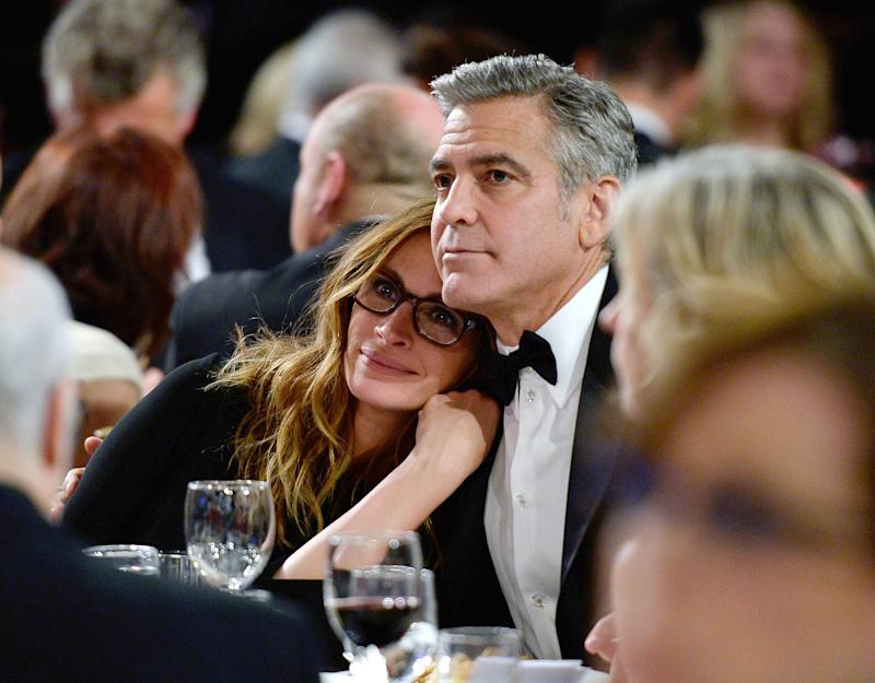 Besties! George Clooney Yucks It Up With Julia Roberts at the BAFTAs