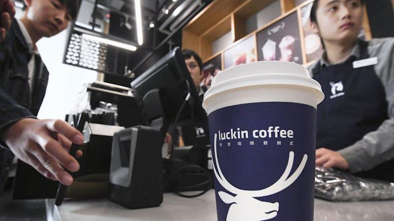 Luckin Coffee, China's Starbucks wannabe, sees Nasdaq stock plunge as executive is suspended for making up sales figures