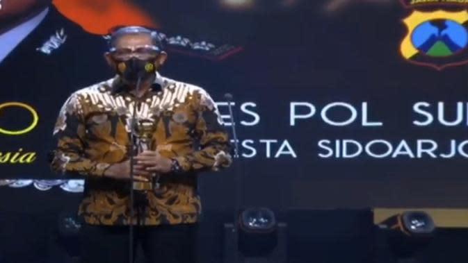 Kapolresta Sidoarjo Kombes Sumardji Raih Indonesia Awards 2020