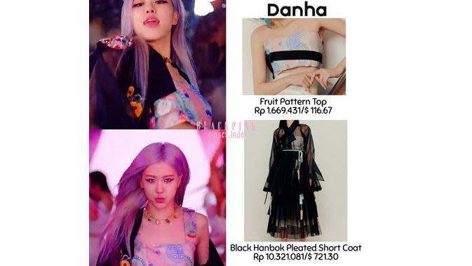 Outfit Blackpink (Sumber: Instagram/blackpink.closet.indo)