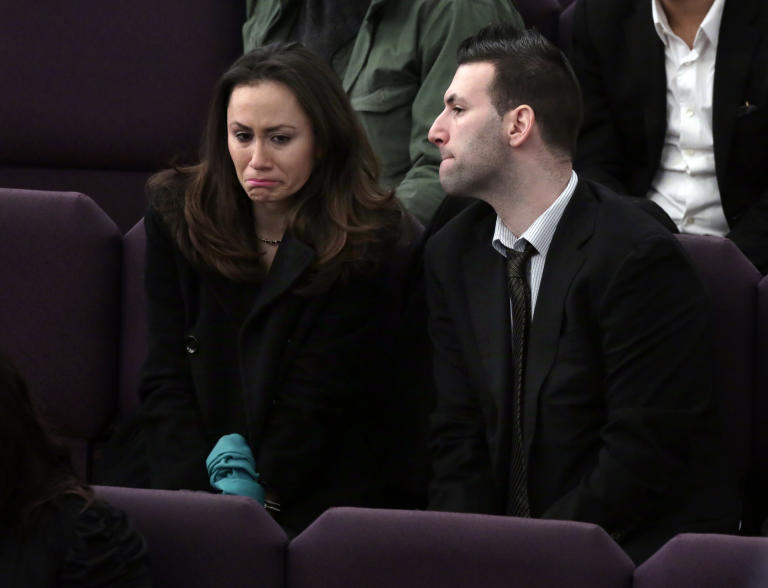 Maggie Rodriguez, who was supposed to to travel to Turkey with her friend Sarai Sierra, attends the funeral for Sierra, at the Christian Pentecostal Church, in the Staten Island borough of New York,  Friday, Feb. 15, 2013.  The 33-year-old mother of two was killed while vacationing alone in Turkey. Her body was found in Istanbul, 12 days after she disappeared. (AP Photo/Richard Drew)
