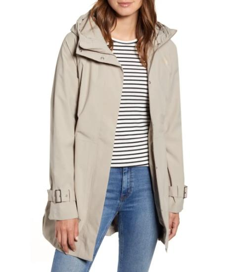 The North Face City Breeze Waterproof Trench Raincoat. (Image via Nordstrom)