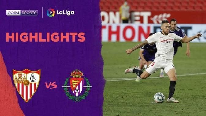 VIDEO: Highlights La Liga, Sevilla Ditahan Imbang Real Valladolid 1-1