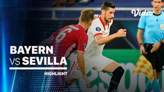 VIDEO: Highlights Piala Super Eropa, Bayern Munchen Susah Payah Kalahkan Sevilla 2-1