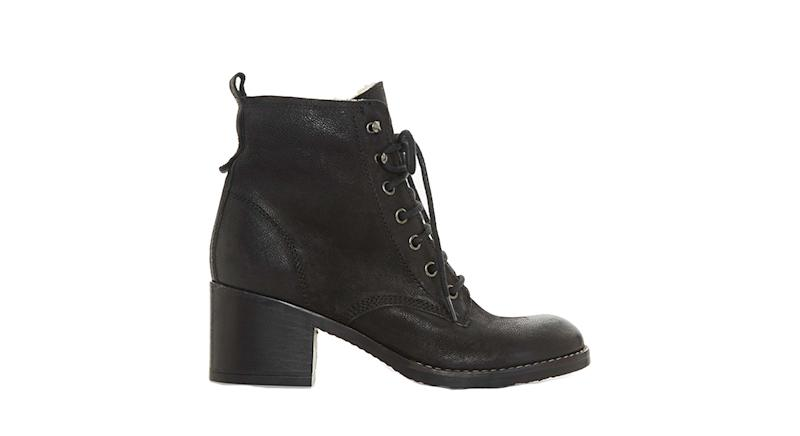 Dune Patsie D Leather Lace Up Ankle Boots