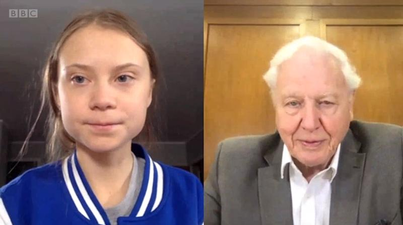 Thunberg gets a thumbs up from Attenborough (BBC)