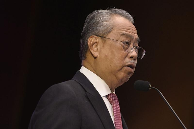 In a special address yesterday, Prime Minister Tan Sri Muhyiddin Yassin said the maximum allowable compound under the Prevention and Control of Infectious Diseases Act 1988 may be raised 'at least two or three times' from the current RM1,000. — Picture by Miera Zulyana