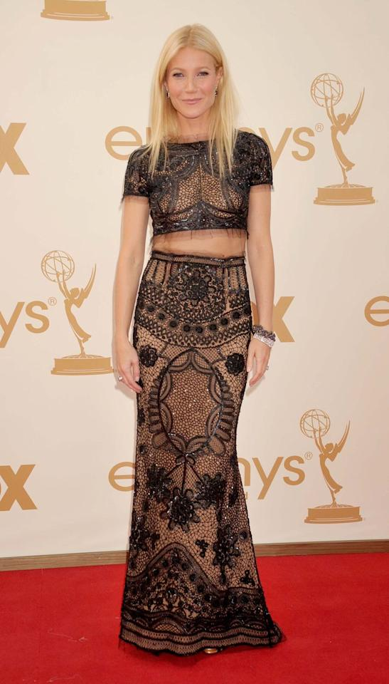 <p>The red carpet icon eschewed a standard gown for this Pucci two-piece in 2011. </p>