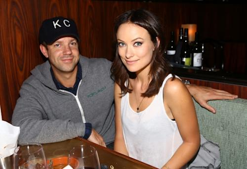 Jason Sudeikis and Olivia Wilde attend Glamour Presents 'These Girls' at Joe's Pub in New York City on October 8, 2012 -- Getty Images