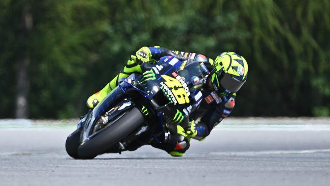 Pembalap Monster Energy Yamaha, Valentino Rossi. (AFP/Joe Klamar)
