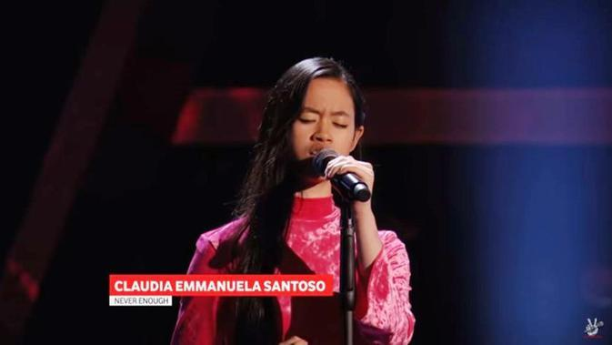 Gadis asal Cirebon Claudia Emmanuela Santoso mengikuti audisi The Voice Jerman. (dok. screenshot youtube the voice of germany offiziell)