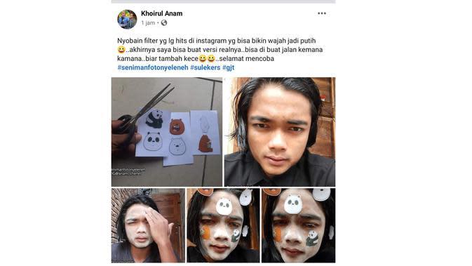 Kelakuan Nyeleneh Cewek Mempercantik Diri (Sumber: Instagram/receh.id)