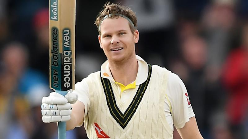 Steve Smith, pictured here after his double century in the fourth Ashes Test.