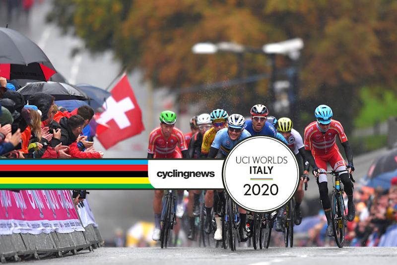 The riders faced wet and windy conditions during the elite men's road race at the 2019 World Championships in Yorkshire, in the UK,