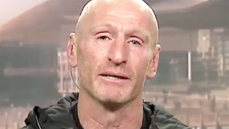 Gareth Thomas, pictured here revealing he was forced to come clean about his HIV diagnosis.
