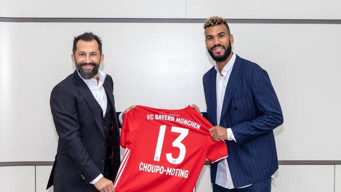Direktur Olahraga Bayern Munchen Hasan Salihamidzic dan Eric Maxim Choupo-Moting. (Dok Bayern Munchen)