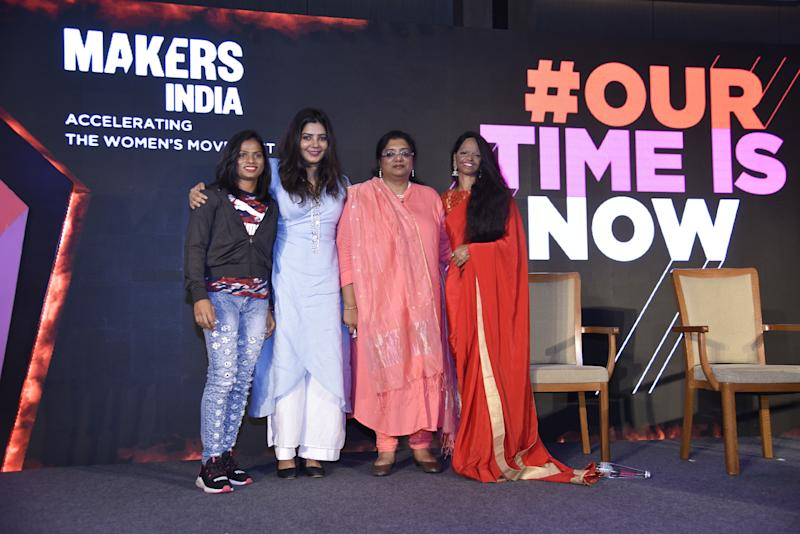 L to R: Dutee Chand, Shradha Sharma, Chhaya Sharma, and Laxmi Agarwal.