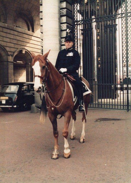 At the Trooping of the Colour in 1984